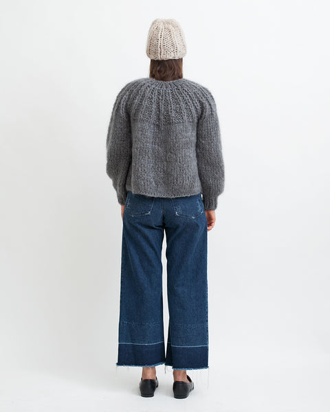 Mohair Pleated Short Cardigan - Founders & Followers - Maiami - 4