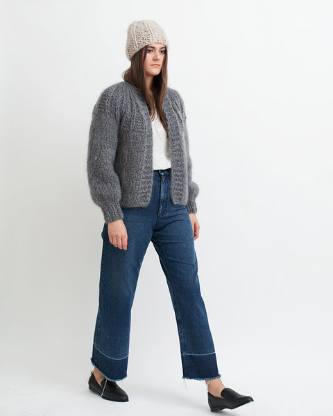 Mohair Pleated Short Cardigan - Founders & Followers - Maiami - 5