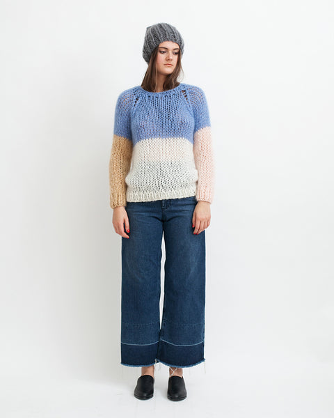 Mohair Colorblock Sweater - Founders & Followers - Maiami - 2