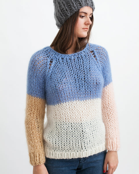 Mohair Colorblock Sweater - Founders & Followers - Maiami - 1