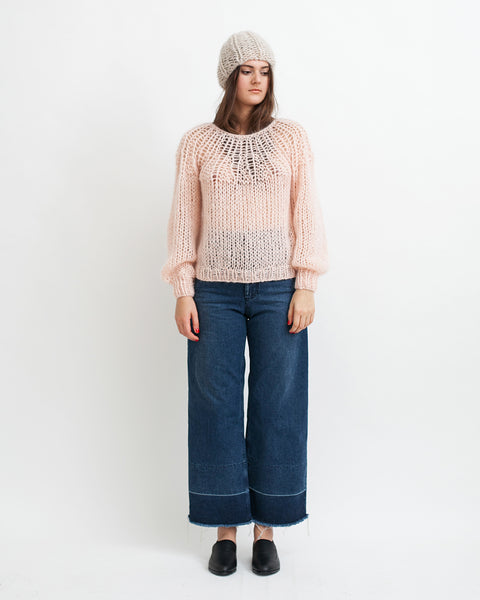Mohair Pleated Sweater in Nude - Founders & Followers - Maiami - 2