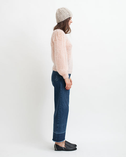 Mohair Pleated Sweater in Nude - Founders & Followers - Maiami - 3