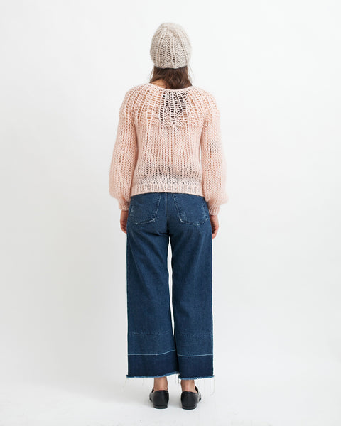 Mohair Pleated Sweater in Nude - Founders & Followers - Maiami - 4