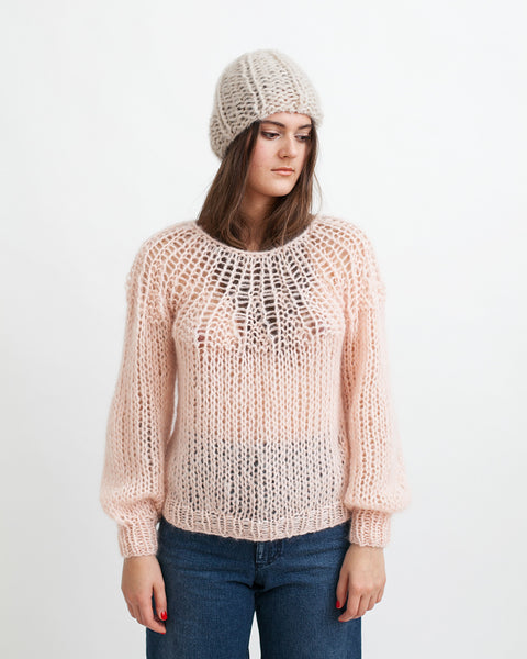 Mohair Pleated Sweater in Nude - Founders & Followers - Maiami - 6