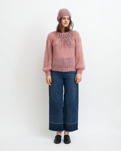 Mohair Pleated Sweater in Pink - Founders & Followers - Maiami - 2