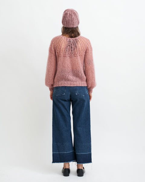 Mohair Pleated Sweater in Pink - Founders & Followers - Maiami - 4