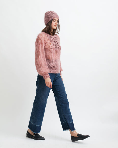 Mohair Pleated Sweater in Pink - Founders & Followers - Maiami - 5
