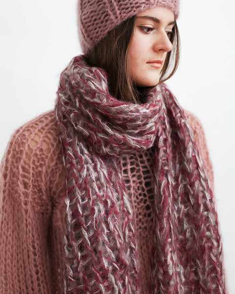 Mohair Melange Scarf - Founders & Followers - Maiami - 3