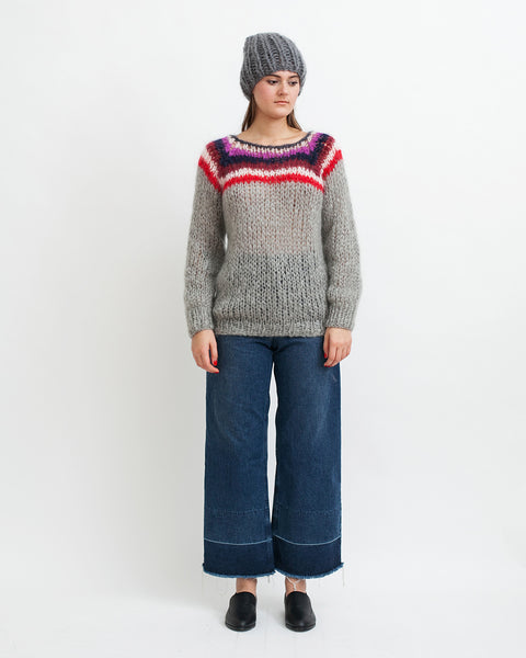 Mohair Campus Sweater - Founders & Followers - Maiami - 3