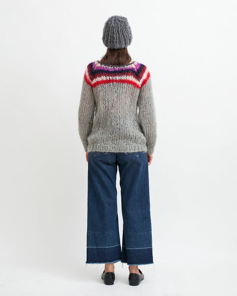 Mohair Campus Sweater - Founders & Followers - Maiami - 5