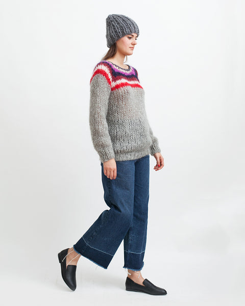 Mohair Campus Sweater - Founders & Followers - Maiami - 6