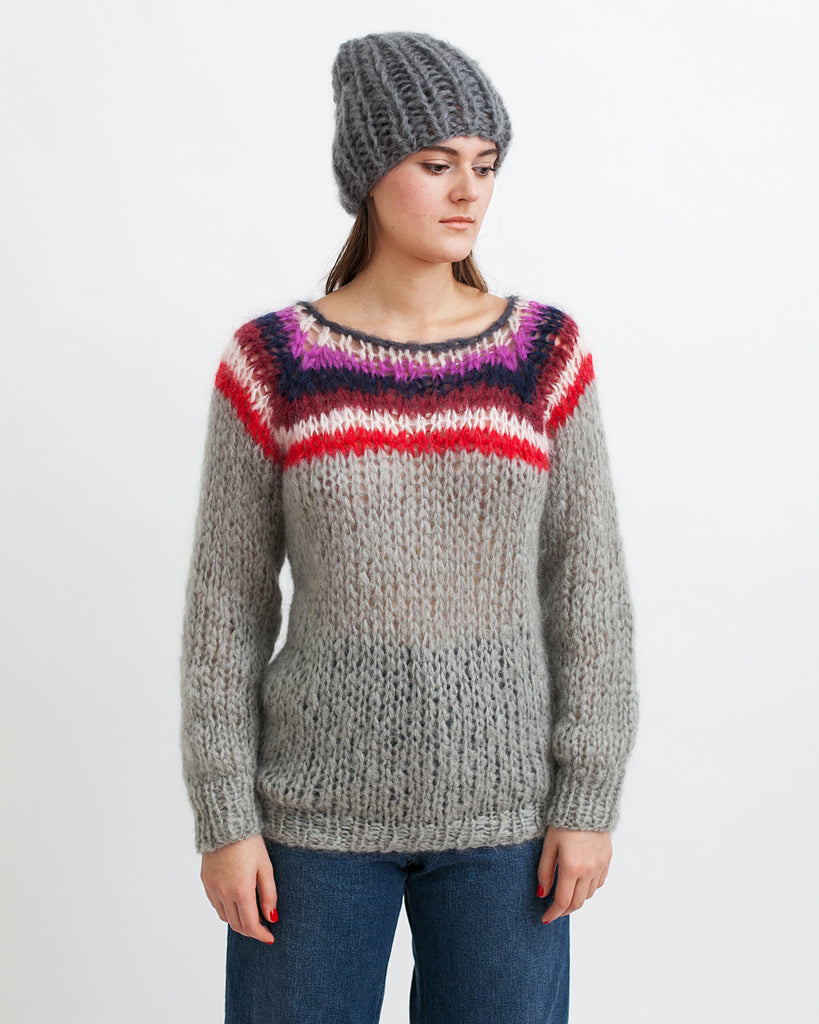 Mohair Campus Sweater - Founders & Followers - Maiami - 1