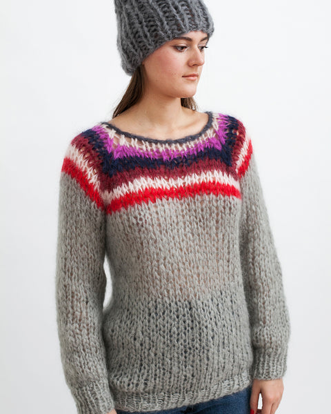 Mohair Campus Sweater - Founders & Followers - Maiami - 2