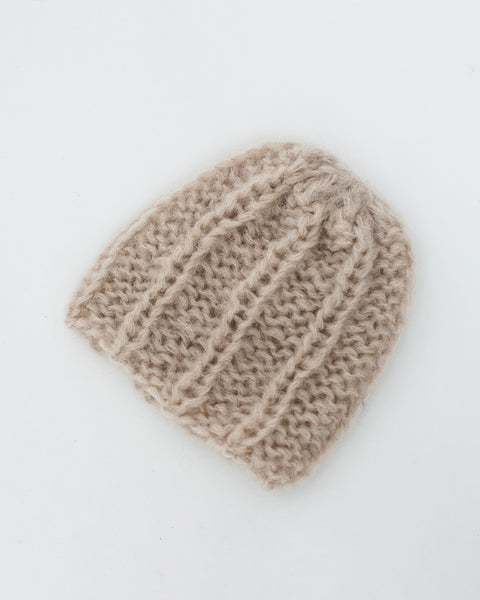 Mohair Pleated Cap in Beige - Founders & Followers - Maiami - 2