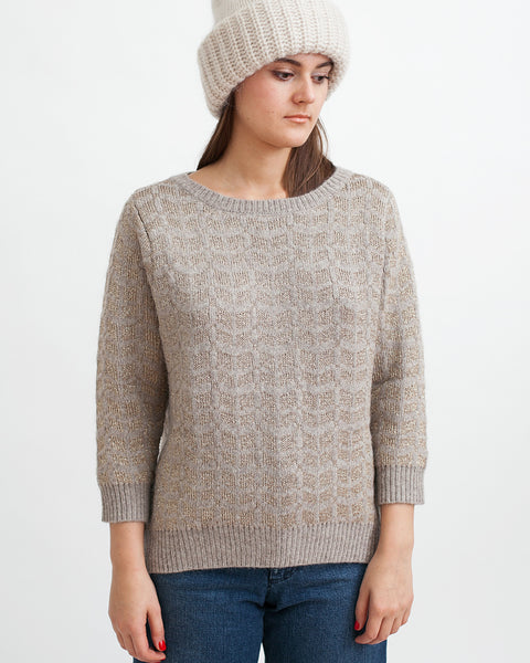 Little Diamonds Alpaca Lurex Sweater - Founders & Followers - Sessun - 1