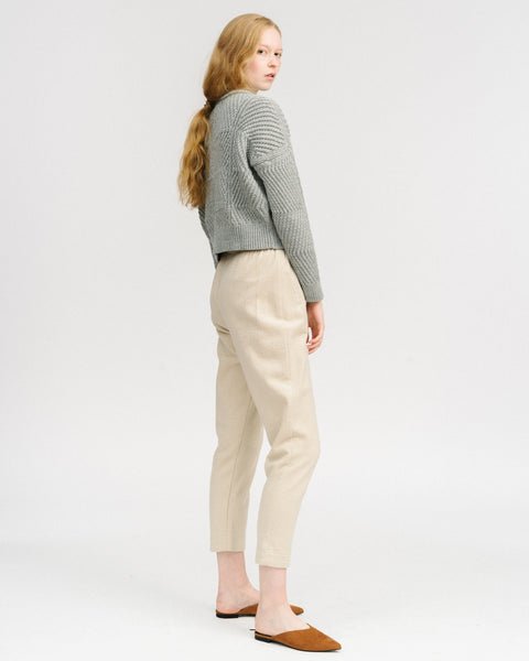 Bevel sweater in grey melange
