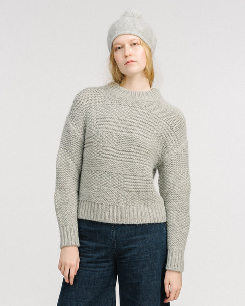 Ply pullover in grey