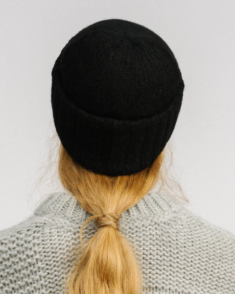 Wooly beanie in black