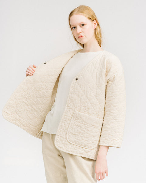 Quilted jacket in Cream