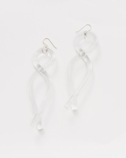Pendant lucite earrings