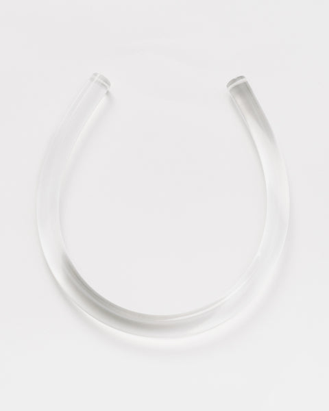 Horseshoe lucite necklace