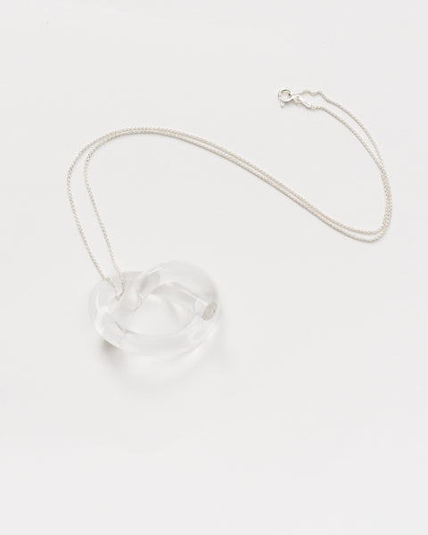 Knot lucite necklace