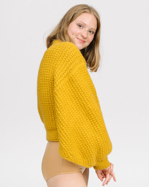 Jackie sweater in mustard