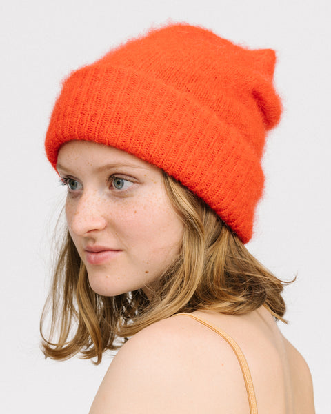 Fammy mohair hat in rouge