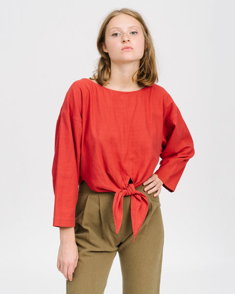 Gina shirt in cherry