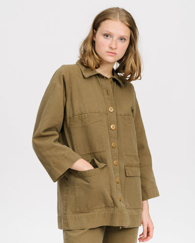 Mabel jacket in umber