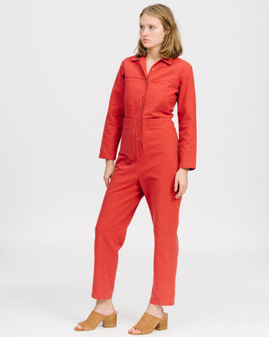 Tia coverall in cherry