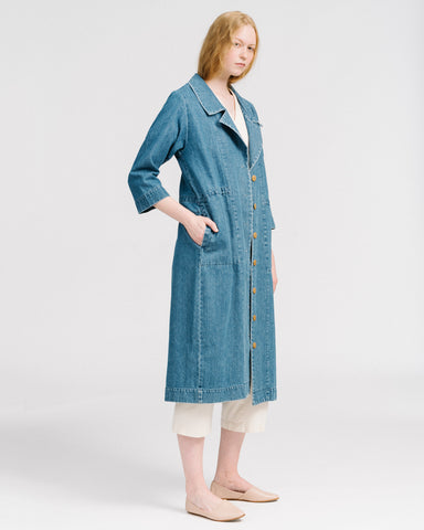 Mav trenchcoat in denim