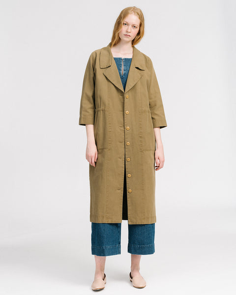 Mav trenchcoat in umber