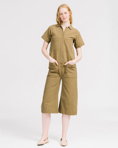 Mabel coverall in umber