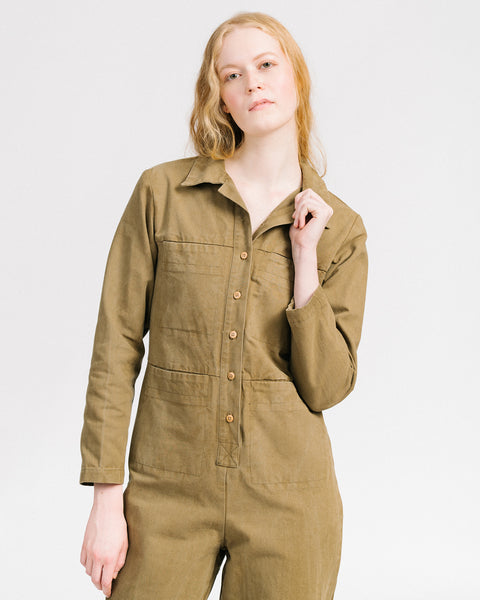 Tia coverall in umber
