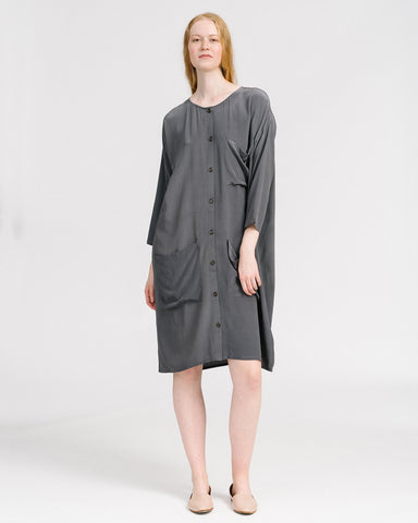 Silk Workdress in Grey