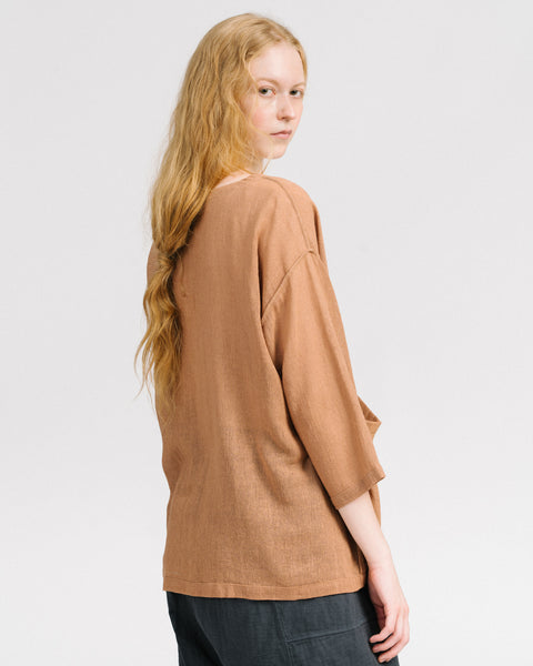 Jute workshirt in clay