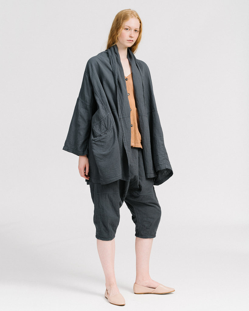 Haori coat in graphite