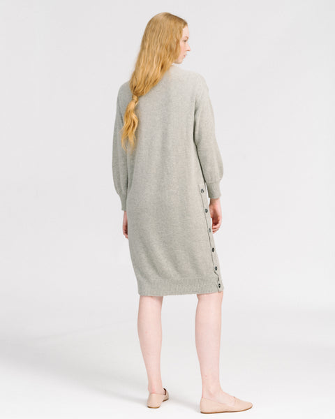 Lou sweater dress in cloud grey