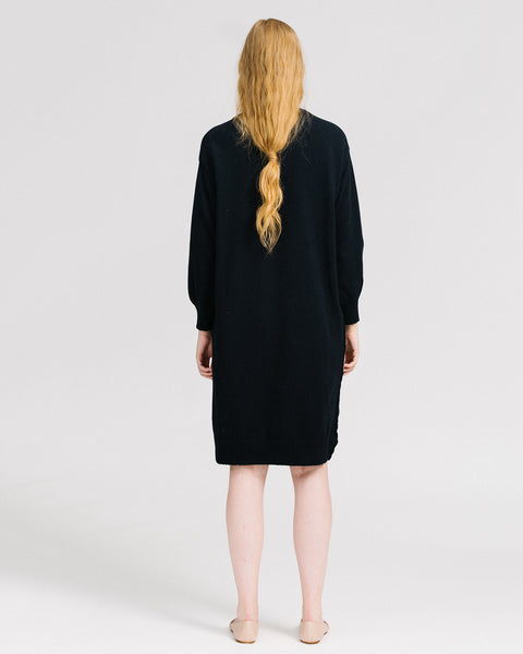 Lou sweater dress in midnight blue