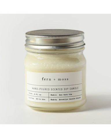 Fern + Moss Mason jar Candle - Founders & Followers - Brooklyn Candle Studio - 1