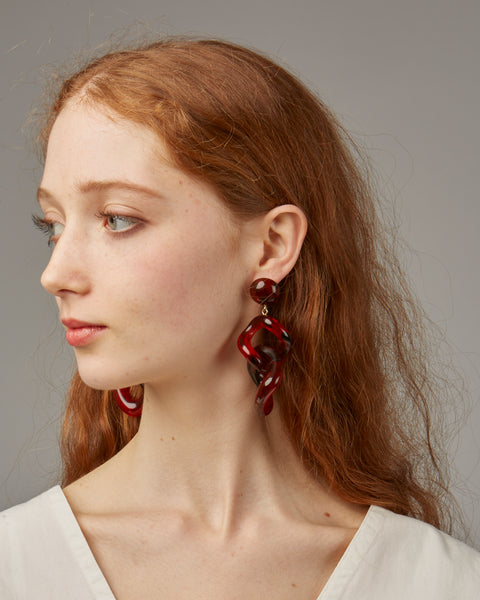 Tamara earrings in red