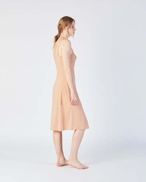 Vetiver slip dress in petal