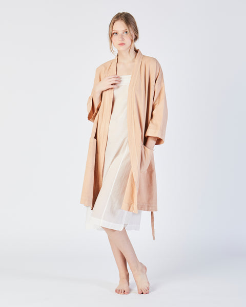 Racine organic cotton robe in petal