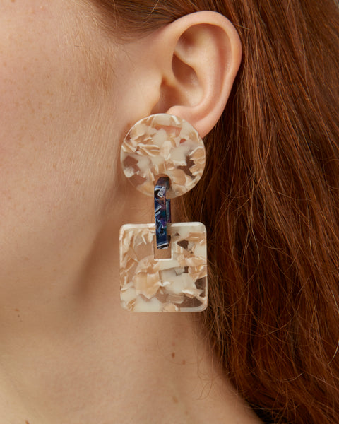 Savannah Earrings in marble
