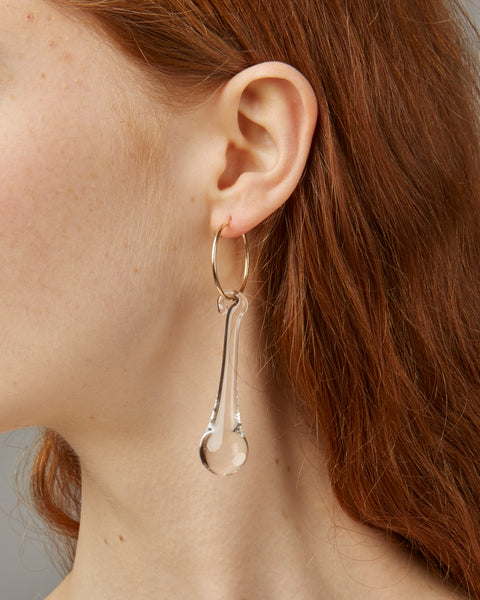 if you want to make me cry earrings in clear glass