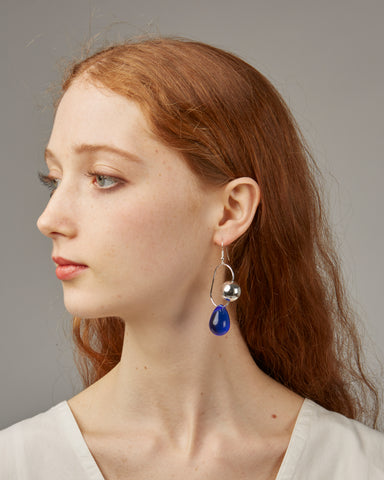 Bitter Sweet earrings in blue glass
