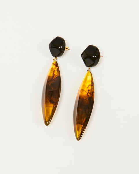 Margot earrings in Tortoise