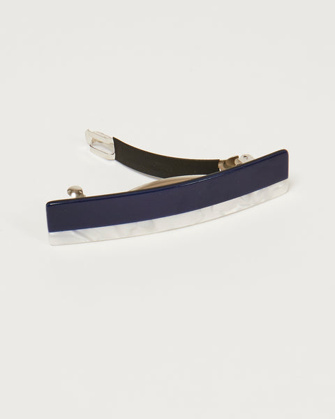 Lena striped barrette in blue