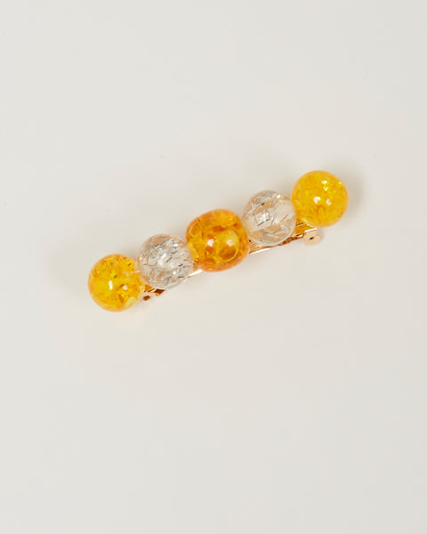 Lulu barrette in amber